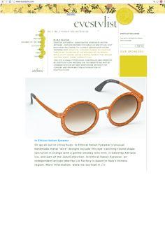 Thanks to Eyestylist.com for this review! http://www.eyestylist.com/ #ioethicalitalianeyewear #eyewear #handmade #handmadeinveneto #fashion #eyestylist