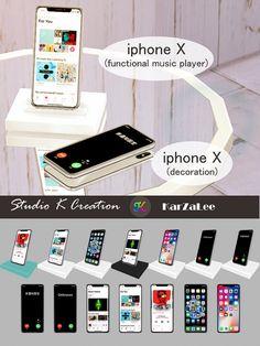 iphone X set at Studio K-Creation • Sims 4 Updates