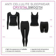 The new anti cellulite Crystal Smooth sleepwear comes in sets for cold and warm weather, they are also great underwear garments.  #madebyMACOM #anticellulite #CrystalSmooth #sleepwear #pjs #beauty #beautyblogger #treatments