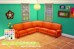 Modular Sofa by magicalgirlsimmer at SimsWorkshop via Sims 4 Updates