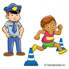 Gymles voor kleuters, thema politie 1, kleuteridee. People Who Help Us, Pe Ideas, School Clipart, Community Helpers, Childrens Party, Speech And Language, Paw Patrol, Cops, Gymnastics