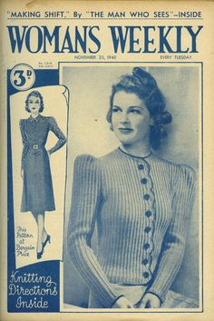 1000+ images about Original Vintage Knitting Patterns on Pinterest Knitting...