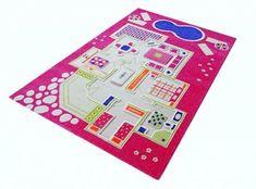 DOMEK DLA LALEK  - różowy dywan 3D - przestrzenny 160x230 cm