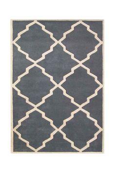 Alliyah Collection Wool Rug - Blueish Grey/Beige