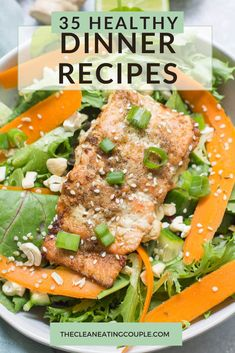 These 35 Healthy Dinner Recipes are quick, easy and delicious! Whether you're looking to feed a family or just cook for two - these easy clean eating supper recipes are for you. Everything from chicken, to beef, to vegetarian - instant pot to crockpot.. there's a meal for everyone! All of these recipe are under 500 calories, and many can be made on a budget or low carb! Healthy Grilled Chicken Recipes, Healthy Turkey Recipes, Healthy Grilling Recipes, Healthy Meal Prep, Healthy Eating, Whole30 Recipes, Clean Eating Guide, Easy Clean Eating Recipes, Easy Whole 30 Recipes