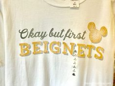 Walt Disney World's Port Orleans French Quarter now has tee shirts declaring our love for Mickey Beignets! Disney Inspired Outfits, Disney Outfits, Disney Style, Disney Land, Disney Home, Walt Disney World, Disney Apparel, Mermaid Under The Sea, Downtown Disney