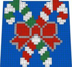 Christmas - Candy Canes LEGO(r) Mosaic Design - Brick Art Maker