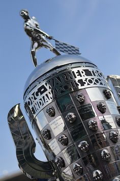 "The Borg-Warner Trophy for the Indianapolis 500.  It's that time of year again...""Gentlemen and Ladies START YOUR ENGINES!"""