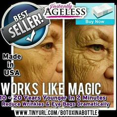 GET FREE INSTANTLY AGELESS BY JEUNESSE Look 10 - 15 years younger in just 2 minutes. Works on everyone. Watch a live 2 minute demonstration. 30 day money back guarantee. Look Younger, 20 Years, Buy Now, It Works, Shit Happens, Money, Watch, Live, Clock