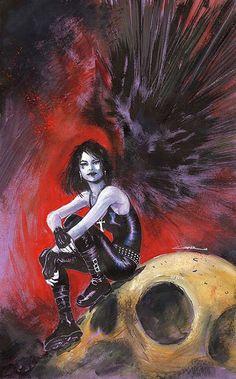 Death // artwork by Yildiray Cinar Sandman Gaiman, Death Sandman, Delirium Sandman, Neil Gaiman, Morpheus Sandman, Vertigo Comics, Fanart, Marvel, Comic Artist