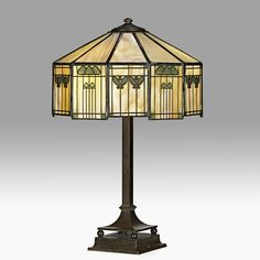 HANDEL (Attr.)  Table lamp, Meriden, CT, 1920s