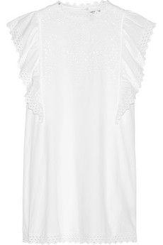 Étoile Isabel Marant Scarla eyelet cotton mini dress   NET-A-PORTER