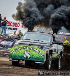 """""""Right on the Money"""" pulling at the Hunting 4 Horsepower Event Rolling Coal, Wheeling, Monster Trucks, Hunting, Money, Silver, Fighter Jets"""