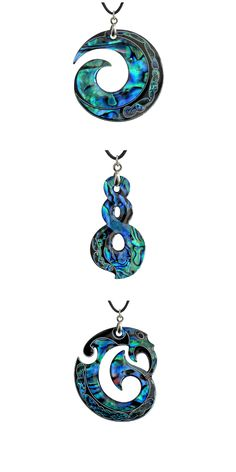 Te Koru, te Pikorua, me te Manaia ( Paua Shell Pendants by Paua World! Paua Shell, Shell Pendant, Jewelry Art, Silver Jewelry, Unique Jewelry, Maori Symbols, Maori Patterns, New Zealand Image, Abalone Jewelry