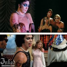 Best Tattoos In Movies-Pt3 : Inked Magazine - Tim Curry in Rocky Horror Picture Show #tattoo #tattoos #movies #inkedmag #celebrities #celebritieswithtattoos #actor #actress
