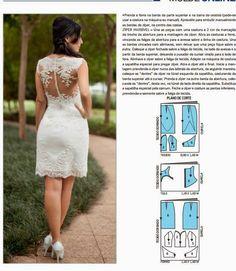 Aprenda a fazer vestido de noiva curto - Toda Moderna
