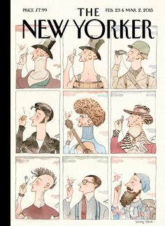 "The New Yorker - Monday, February 23, 2015 - Issue # 4581 - Vol. 91 - N° 2 - « 90th Anniversary Issue » - Cover ""Nine for Ninety - One"" by Barry Blitt"