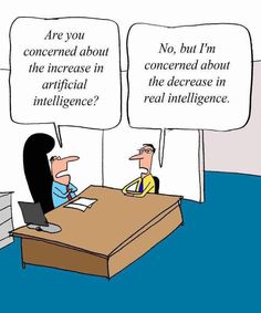 Are you concerned about the increase in artificial intelligence?   funny pictures