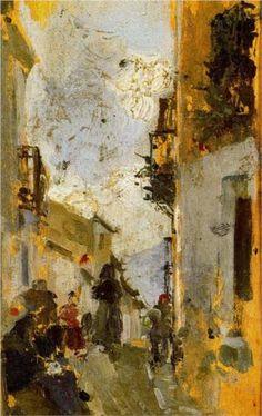 Italian Street - Joaquín Sorolla