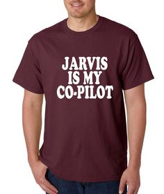 Mens Jarvis is my Co-Pilot Shirt Handmade T-Shirt from $10.99 at xpressiontees.etsy.com | #ExpressionTees