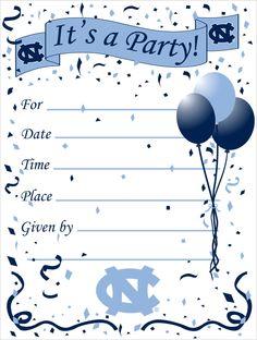 UNC party invitation
