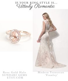 How Engagement Ring Style Determines Gown Choice…