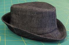 Herbie brimmed hat, full instructions and pattern