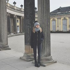 I hope you live a life you're proud of. If you find that you are not, I hope you have the strength to start all over again. istagram, schloss sansauci, Germany, Potsdam, Fashion, Girl, winter