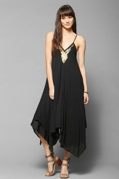 Ecote Neima Gauze Coin Trapeze Dress - Urban Outfitters
