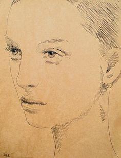 "Saatchi Online Artist Loui Jover; Drawing, ""thomasina"" #art"