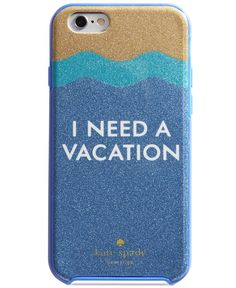 kate spade new york's sand & sea glitter case offers a stylish way to chat, text and surf the Web. For iPhone 6 and 6S. | Resin; bumper: rubber | Fits iPhone 6 and 6S | I need a vacation glitter case