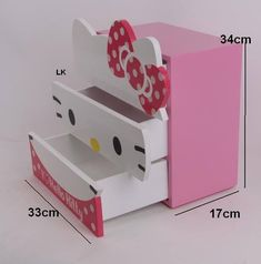 For baby girl's room Kids Room Furniture, Cardboard Furniture, Hello Kitty Bedroom, Hello Kitty Items, Wooden Projects, Kid Table, Kids Room Design, Kids Corner, Kid Beds