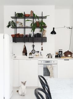white kitchen, black details | Susanna Vento