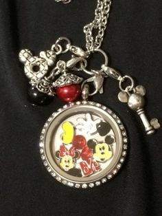 Mickey Mouse Minnie Mouse Inspired Memory Locket Mickey Mouse Necklace