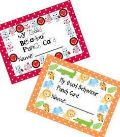 I always love a cute punch card.