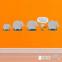 Vinilo infantil WAWAWIWA: Aspira en Grande #vinilo #decoracion #wawawiwa #pared #infantil #habitacion #TeleAdhesivo Grande, Adhesive, Vinyls, Fabrics