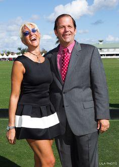 Sylvia Rizzo, John Wash at International Polo Club