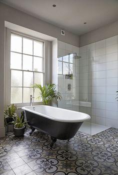 most beautiful bathroom design with modern bathtub ideas 18 ~ my. House Bathroom, Beautiful Bathroom Designs, Georgian Homes, Modern Bathtub, Bathroom Styling, Edwardian Bathroom, Contemporary Bathroom Designs, Bathroom Design, Beautiful Bathrooms