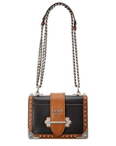 a3534bf0ca136e Prada Cahier Leather Shoulder Bag, Black #Prada #NA Leather Belt Bag, Calf