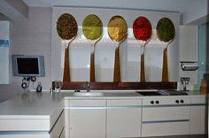 HOME DECOR: 35 Creative ideas for decorating kitchen walls