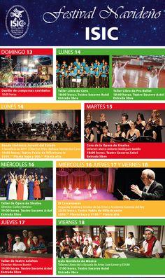 Programa general del Festival Navideño ISIC del 13 al 18 de Diciembre.