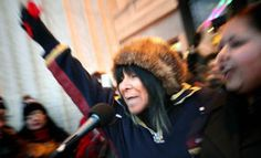 Buffie Sainte-Marie sings at Idle No More rally in Winnipeg