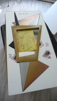Art Deco mirror being pack for dispatch...