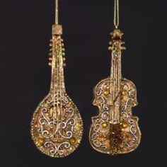 ANTIQUE MUSICAL INSTRUMENT ORNAMENT 135894