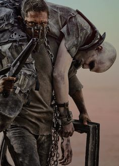 Tom Hardy and Nicholas Hoult - Mad Max Fury Road