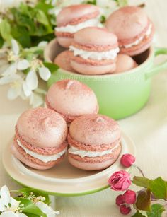 Recipe: Sakura Cherry Blossom Macarons|さくらマカロン