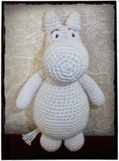 Crochet Moomin - Virkad Mumin -Crocheted by Susanna