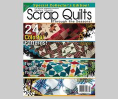 "From All American Crafts: ""Scrap Quilts"" bookazine"