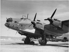 The second prototype Halifax with Rotol (Rolls-Bristol) constant-speed three-bladed wooden props, Radlett, Hertfordshire, 18 August 1940 Navy Aircraft, Ww2 Aircraft, Military Jets, Military Aircraft, Air Fighter, Fighter Jets, Handley Page Halifax, Lancaster Bomber, Flying Boat