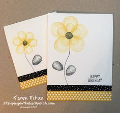 Karen Titus/Balloon Builders stampin up birthday card. Make flowers with the balloon stamps. #stampinup #birthdaycards #stampingonthebackporch #balloonbuildersstampinup